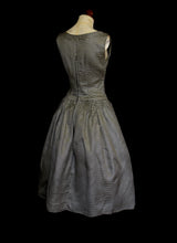 Vintage 1950s Stripe Brocade Dress