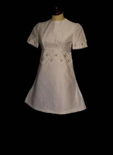 Vintage 1960s Mini Mod Wedding Dress