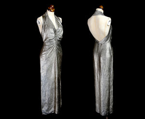 Vintage 1930s Gold Lame Hollywood Dress