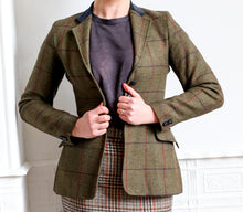 Vintage 1980s Green Wool Tweed Riding Jacket