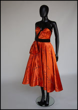 Copper Orange Satin Cocktail Dress