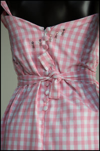 Gingham Pink Vichy Wiggle Dress - S