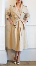 Vintage 1970s Long Beige Trench Coat