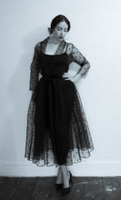 RESERVED Black Magic - Tulle Coat Dress