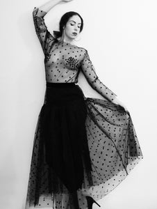 Black Magic - Tulle Star Maxi Dress