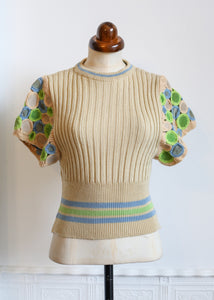 Vintage 1970s Wenjilli Knit Top