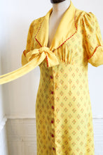 RESERVED Vintage 1970s Yellow Crepe Maxi Dress