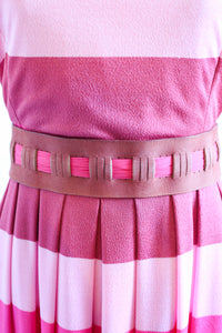 Vintage 1960s Pink Stripe Dress