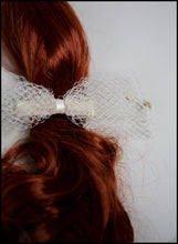 Cream Net Hair Bow