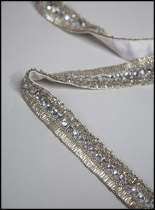Silver Deco Hand Beaded Belt