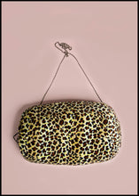 RESERVED Muff Bag - Leopard Velvet Hand Warmer Bag