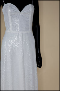 Cala - White Sequin Gown - S