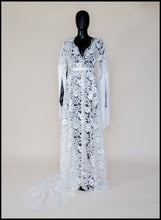Zelda Sequin Floral Tasseled Robe Gown - S /M