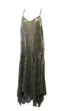 Vintage 1920s Style Black Sequin Flapper Dress