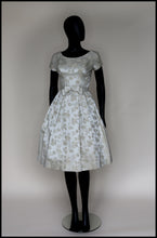 Original Vintage 1950s Oyster Brocade Short Wedding Dress