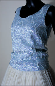 Vintage 1950s Blue Sequin Top