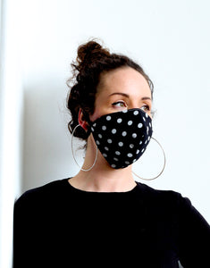 Face Mask - 3 layer Washable Organic Cotton