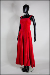Red Draped Goddess Dress