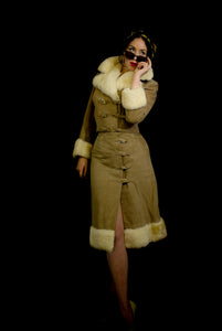 Vintage 1970s Lambskin Jacket and Skirt