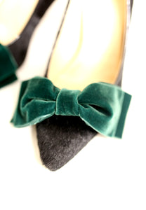 Velvet Bow Shoe Clips - Made to Order