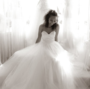 Amber - Silk and Tulle Strapless Ballgown Wedding Dress
