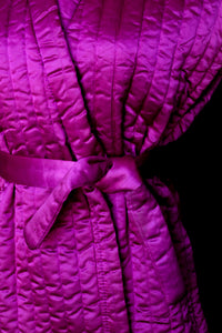 Vintage 1970s Quilted Satin Jacket