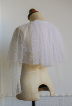 Ivory Point d'esprit Dotty Tulle Capelet Top
