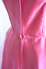 Vintage 1960s Pink Satin Cocktail Dress