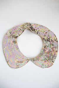 Vintage 1970s Iridescent Sequin Collar