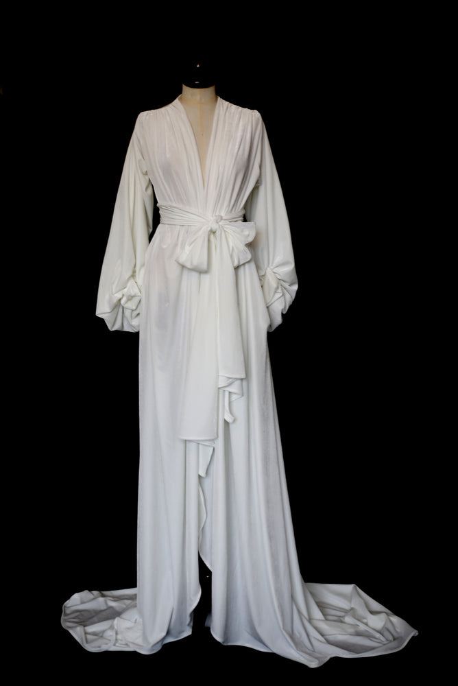Vamp -  Ivory Velvet Wedding Gown - OS