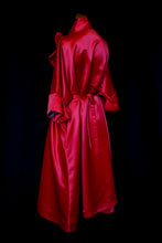 Red Satin Swing Coat