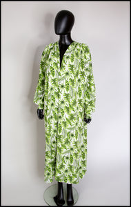 RESERVED Tropical Green Print Maxi Dress
