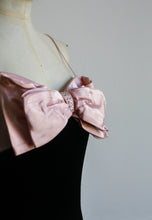 Vintage 1980s Pink Bow Mini Dress