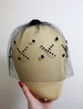 Vintage 1950s Black Dotty Veil