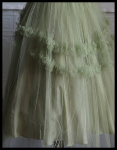 Vintage 1950s Green Tulle Dress