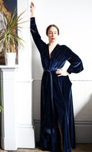 BESPOKE GOWN FOR JODI -  Dark Blue Star Studded Velvet Gown