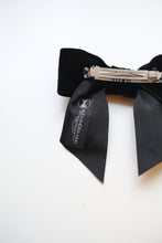 Black Velvet Hair Bow Barrette