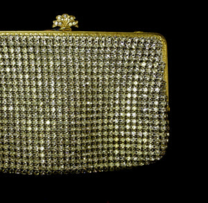 Vintage 1950s Rhinestone Cocktail Bag