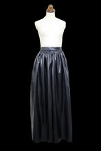 Vintage 1980s Black Faux Leather Maxi Skirt