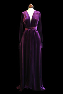 Vamp - Deep Purple Velvet Gown