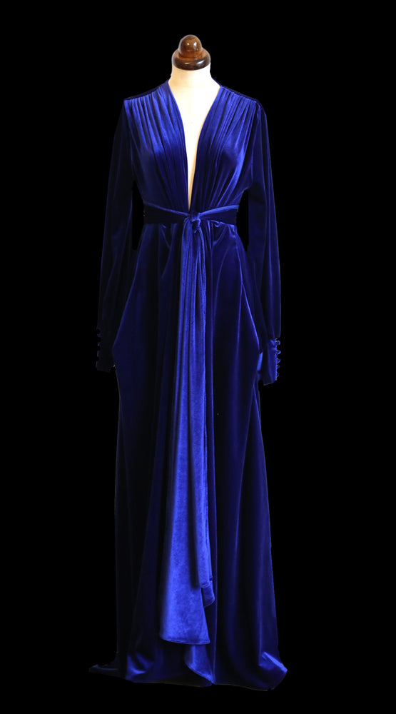 Vamp - Royal Blue Velvet Gown