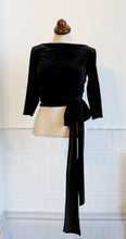Babette - Black velvet Ballet Wrap Top