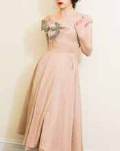 Vintage 1950s Dusky Pink Cocktail Dress