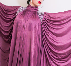 RESERVED Vintage 1970s Disco Kaftan Dress