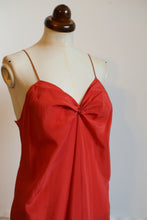 Vintage 1930s Burnt Orange Silk Bias Cut Slip Dress