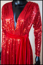 Red Sequin Gown