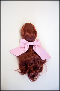 Pink Silk Hair Bow