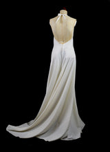 Faye – Silk crepe bias cut beaded gown
