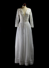 1910 - Edwardian Cotton Lace Dress