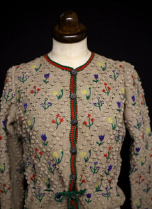 Vintage 1930s Hand Knitted Cardigan